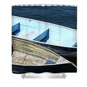 Rockport Blues Shower Curtain