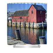 Rockport Fishing Village Shower Curtain