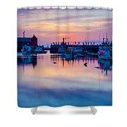 Rockport Harbor Sunrise Over Motif #1 Shower Curtain