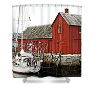 Rockport - Motif Number 1 Shower Curtain