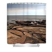 Rockport Rocks Shower Curtain