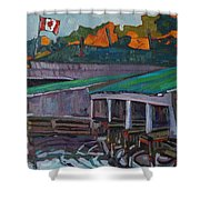 Rockport Roofs Shower Curtain