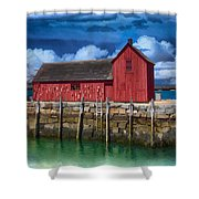 Rockports Motif Number 1 Painting Shower Curtain
