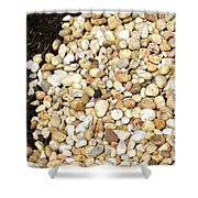 Rocks And Mulch Shower Curtain