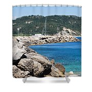 Rocks And Sea Shower Curtain