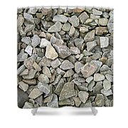 Rocks And Stones Texture Shower Curtain