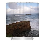 Rocks And Waves  Shower Curtain