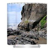 Rocks At Arcadia Beach Shower Curtain