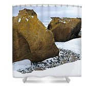Rocks At Brown Bluff, Antarctica Shower Curtain