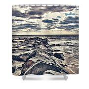 Rocks At Cape May Shower Curtain