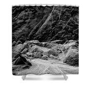 Rocks At Pt. Lobos Shower Curtain
