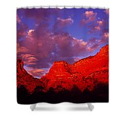 Rocks At Sunset Sedona Az Usa Shower Curtain