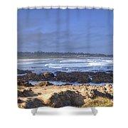 Rocks Before Beach Shower Curtain