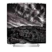 Rocks Clouds Water Shower Curtain