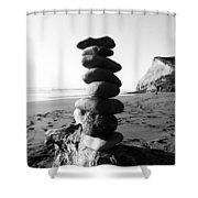 Rocks In Balance Shower Curtain