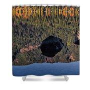 Rocks In Crescent Lake Shower Curtain