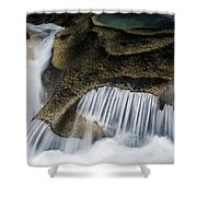 Rocks In Paradise Shower Curtain