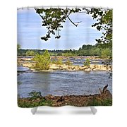 Rocks In The River Shower Curtain