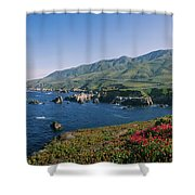 Rocks In The Sea, Carmel, California Shower Curtain