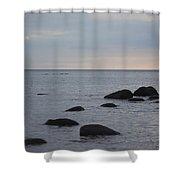 Rocks In Water Shower Curtain