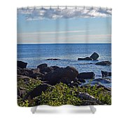 Rocks Of Lake Superior Shower Curtain