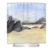 Rocks On Beach Shower Curtain