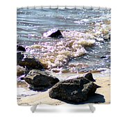 Rocks On The Bay Shower Curtain
