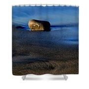 Rocks On The Beach Shower Curtain
