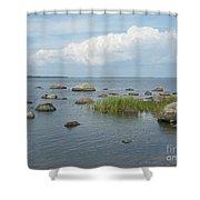 Rocks On The Baltic Sea Shower Curtain