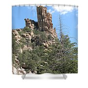 Rocks Reaching To The Sky Shower Curtain