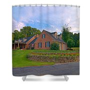 Rockwall Foreground Shower Curtain