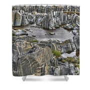 Rocky Arctic Shoreline Shower Curtain