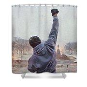 Rocky Balboa Shower Curtain