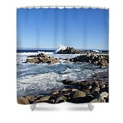 Rocky Beach On 17 Mile Drive Shower Curtain