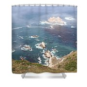 Rocky California Coast Shower Curtain