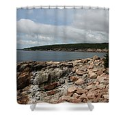 Rocky Coastline Acardia Park Shower Curtain