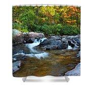 Rocky Creek Above Rocky Falls 1 Shower Curtain