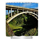 Rocky Creek Bridge Shower Curtain