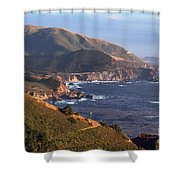 Rocky Creek Bridge In Big Sur Shower Curtain by Charlene Mitchell