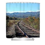 Rocky Creek Railroad Shower Curtain