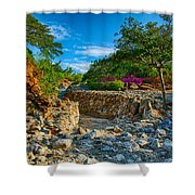 Rocky Garden Walk Shower Curtain