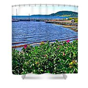 Rocky Harbour Roses-nl Shower Curtain