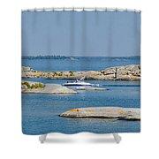 Rocky Islands On Georgian Bay Shower Curtain