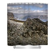 Rocky Land Shower Curtain