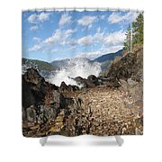 Rocky Ledges Shower Curtain