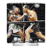 Rocky Marciano V Jersey Joe Walcott Quotes Shower Curtain