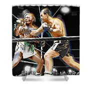 Rocky Marciano V Jersey Joe Walcott Shower Curtain