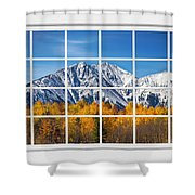 Rocky Mountain Autumn High White Picture Window Shower Curtain
