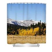 Rocky Mountain Autumn Shower Curtain