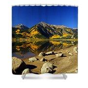 Rocky Mountain Beach Shower Curtain